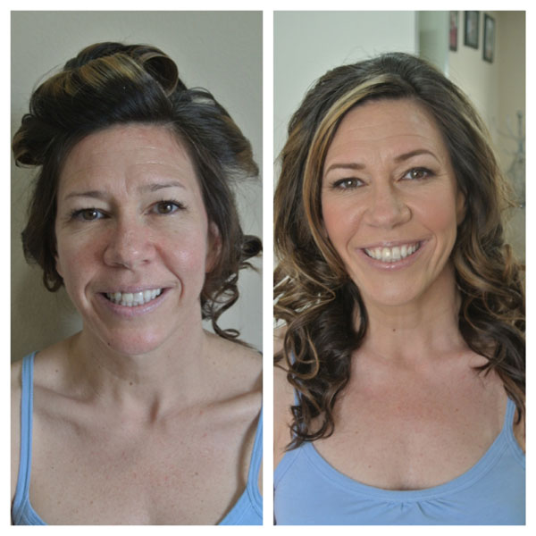 Before and After Hair and Makeup Bridal Trial 3