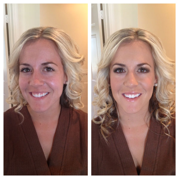 Before and After Hair and Makeup Bridal Trial 2