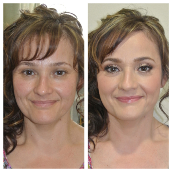 Before and After Makeup and Hair 1