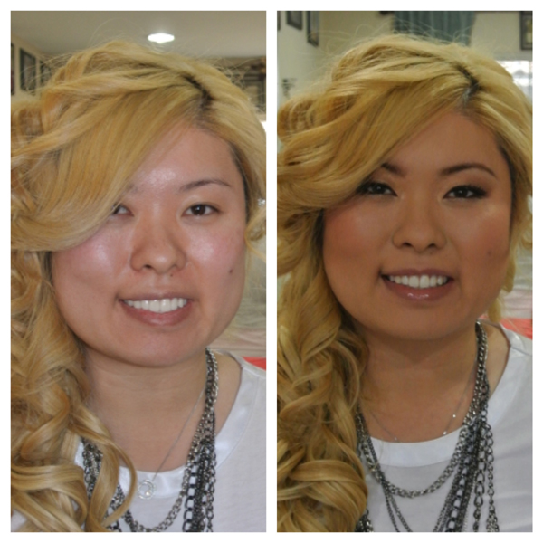 Before and After Makeup and Hair 2