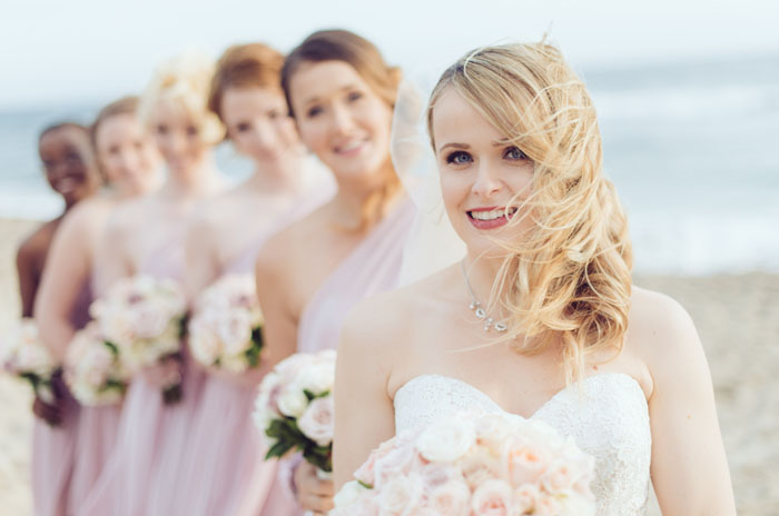 Malibu Beach Wedding: Hair and Makeup by Elite Makeup Designs