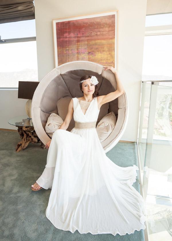 Bridal Hair And Makeup For Beautiful Russian Wedding In Malibu