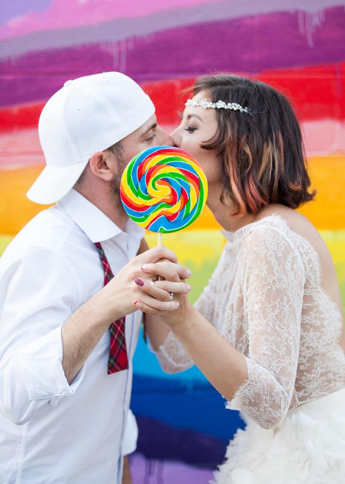Lollipop Wedding Photo