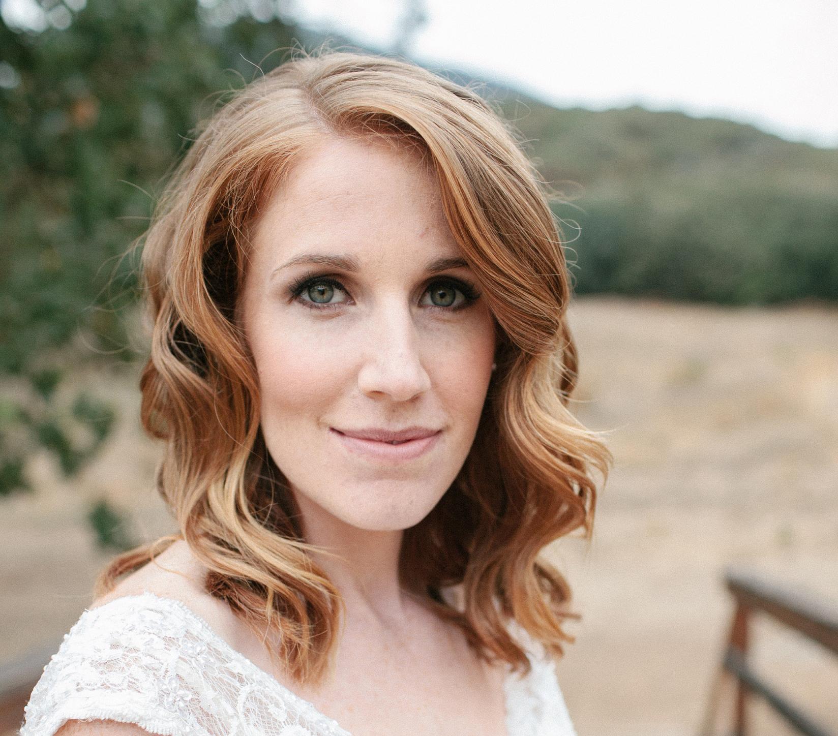 Paramount Ranch Wedding Hair and Makeup