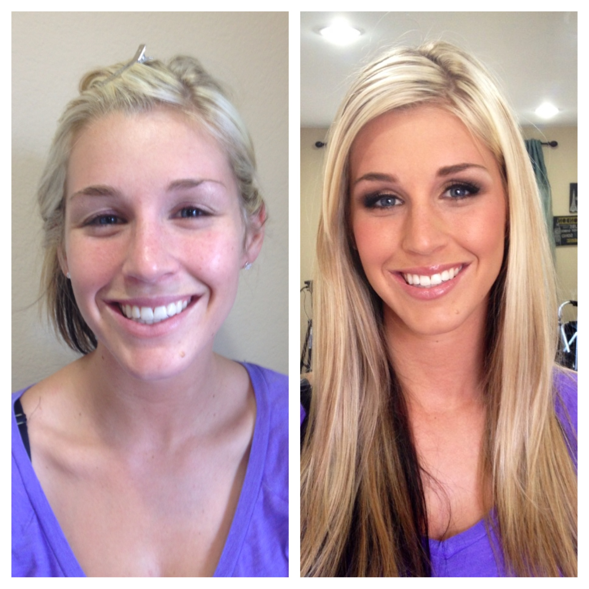 Before & After Hair and Makeup