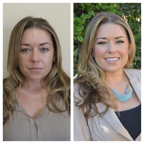 Before and After Hair and Makeup Real Estate Headshot