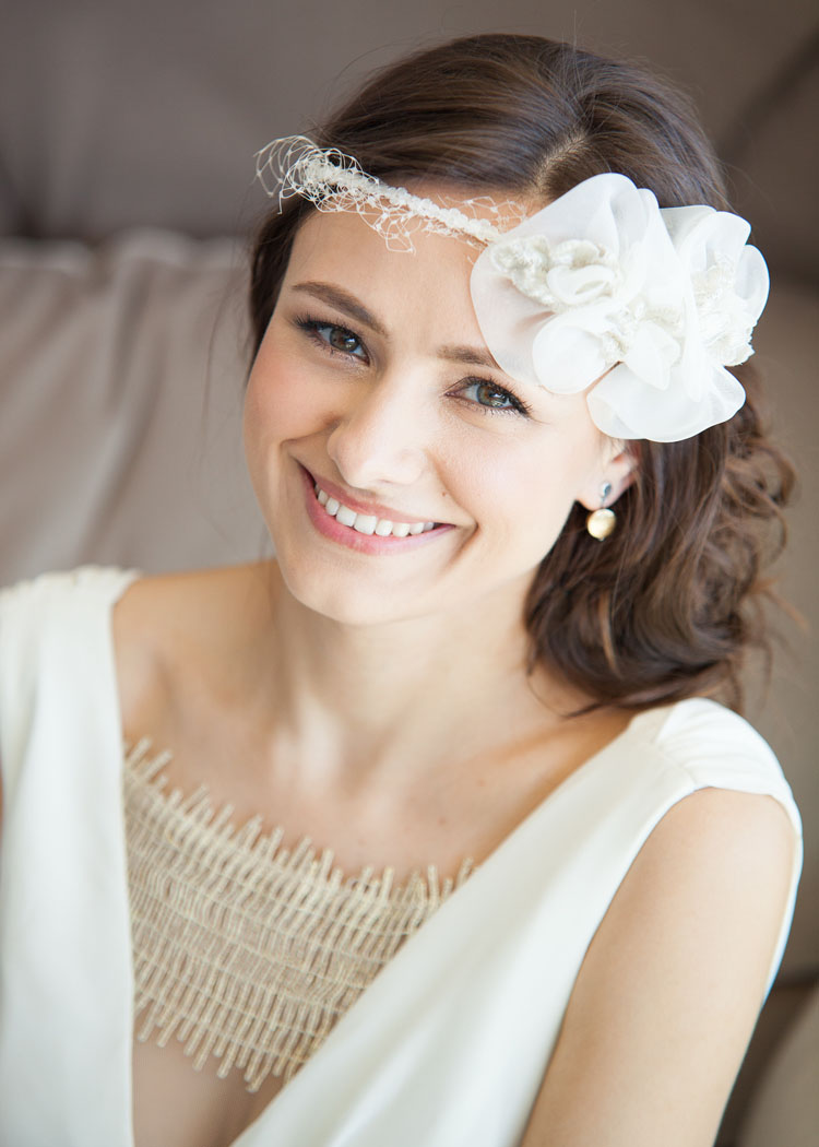 Russian Bridal Hair and Makeup With Headpiece