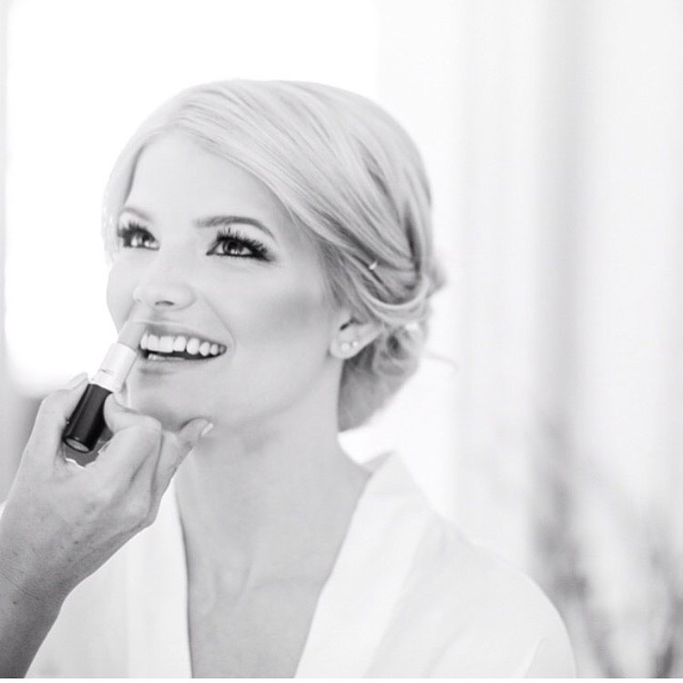 Black and White Bridal Photo Lipstick