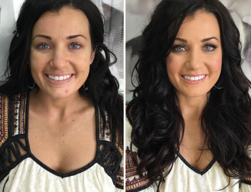 Bridal Before and After Hair and Makeup Look