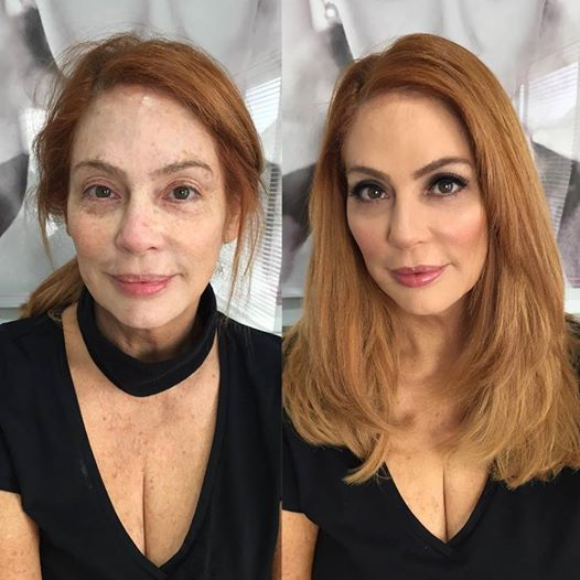 Redhead Before and After