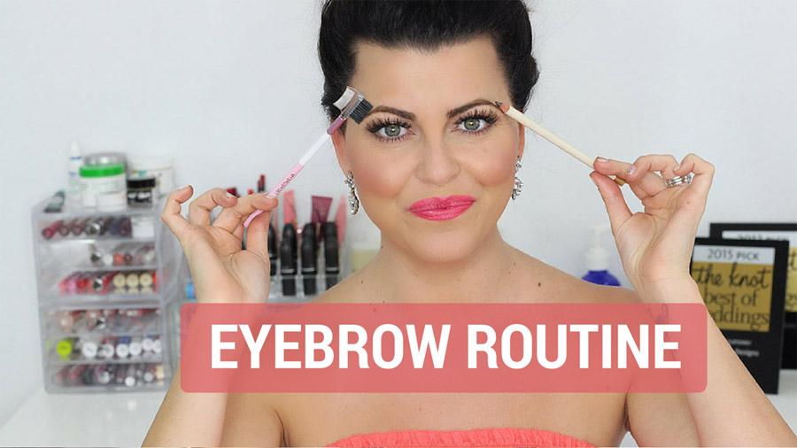 Eyebrow-Routine Makeup Tutorial