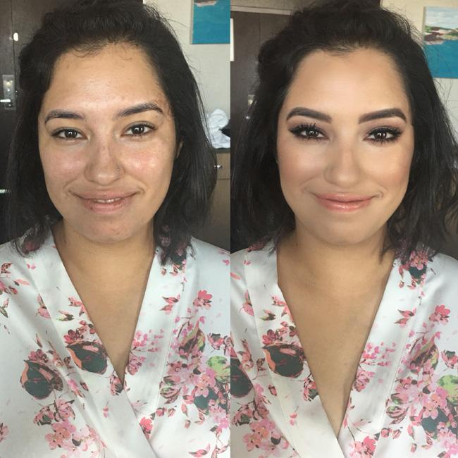 Before After Hair Makeup Dark